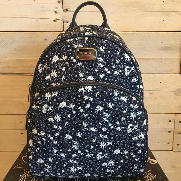 014089a3b41c Michael Kors Bags | Nwt Abbey Navy Lg Backpack Floral | Poshmark